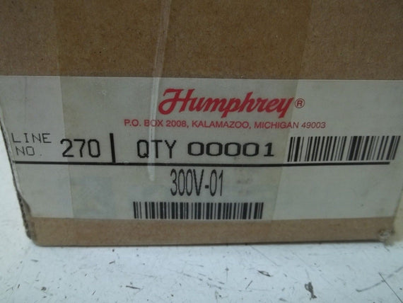 HUMPHREY 300V-01 MANUAL AIR EXHAUST VALVE *NEW IN BOX*