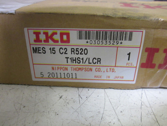 IKO MES 15 C2 R520 LINEAR GUIDE RAIL W/ 2 BLOCKS  T1HS1/LCR *NEW IN BOX*