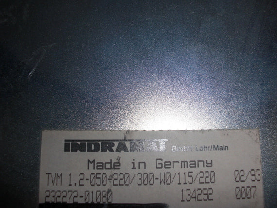 INDRAMAT TVM1.2-050-220/300-100/115/220 *USED*