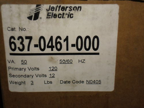 JEFFERSON ELECTRIC 637-0461-000 TRANSFORMER *USED*