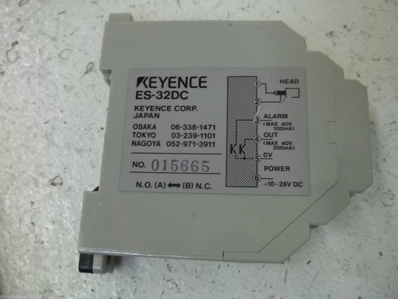 KEYENCE ES32DC PROXIMITY SWITCH AMPLIFIER *USED*