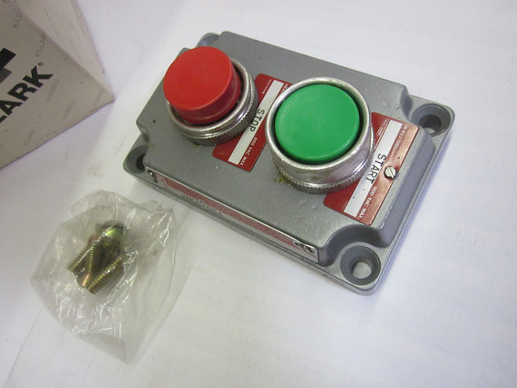 KILLARK XNCS-0B4 DOUBLE PUSHBUTTON (GREEN/RED) *USED*