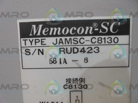 YASKAWA  JAMSC-C8130  MEMOCON POWER SUPLY * USED *