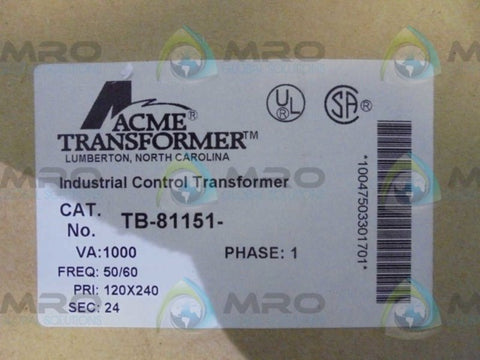 ACME  TB-81151  TRANSFORMER * NEW IN BOX *