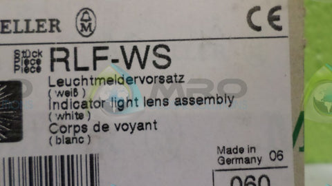 (LOT OF 5) MOELLER RLF-WS INDICATOR LIGHT LENS *NEW NO BOX*