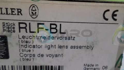 (LOT OF 5) MOELLER RLF-BL INDICATOR LIGHT LENS *NEW NO BOX*
