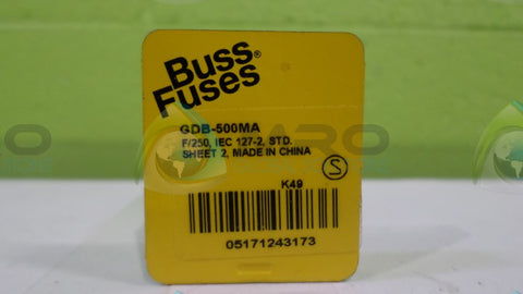 (LOT OF 3) COOPER BUSSMANN GDB-500MA FUSE *NEW NO BOX*