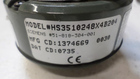 "DYNAPAR/SIEMENS HS3510248X4B204 ENCODER 5/8"" *NEW NO BOX*"