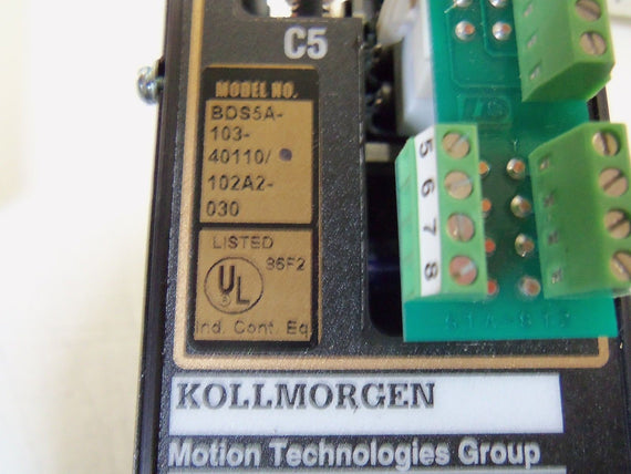 KOLLMORGEN BDS5A-103-40110/102A2 *REPAIRED*