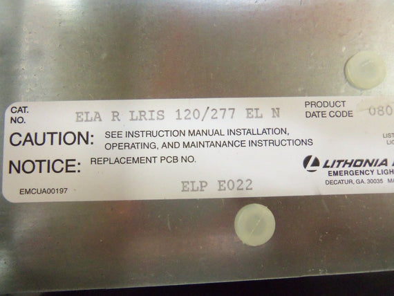 LITHONIA ELARLRIS120/277ELN EMERGENCY EXIT LIGHT *NEW IN BOX*
