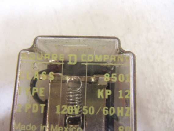 LOT OF 13 SQUARE D 8501-KP12 RELAY *USED*