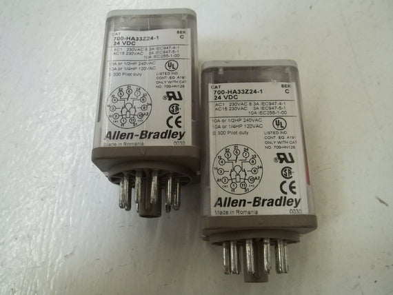 LOT OF 2 ALLEN BRADLEY 700-HA33Z24-1 SER.C *USED*