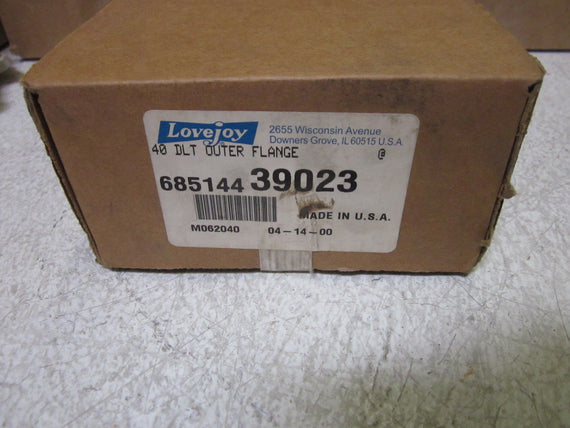 LOT OF 2 LOVEYJOY 68514439023 40 DLT OUTER FLANGE *NEW IN BOX*