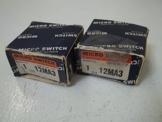 LOT OF 2 MICROSWITCH 12MA3 *NEW IN BOX*