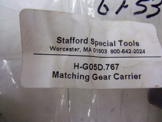 LOT OF 2 STAFFORD TOOLS H-G05D.767 MATCHING GEAR CARRIER *NEW IN FACTORY BAG*