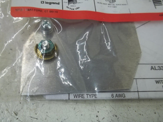 LOT OF 2 WIREMOLD AL3309 GROUND CLAMP *NEW IN A BAG*