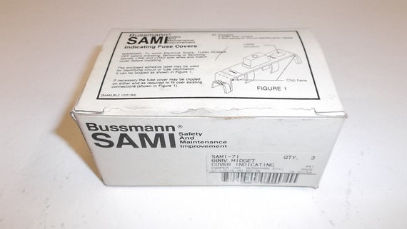LOT OF 3 BUSSMAN SAMI-71 *NEW IN BOX*