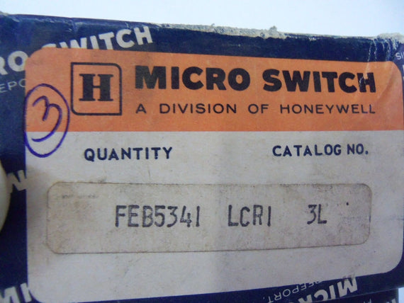 LOT OF 3 MICROSWITCH LCRI *USED*