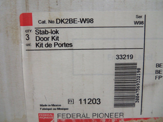 LOT OF 3 SCHNEIDER ELECTRIC DK2BE-W98 DOOR KIT *NEW IN BOX*