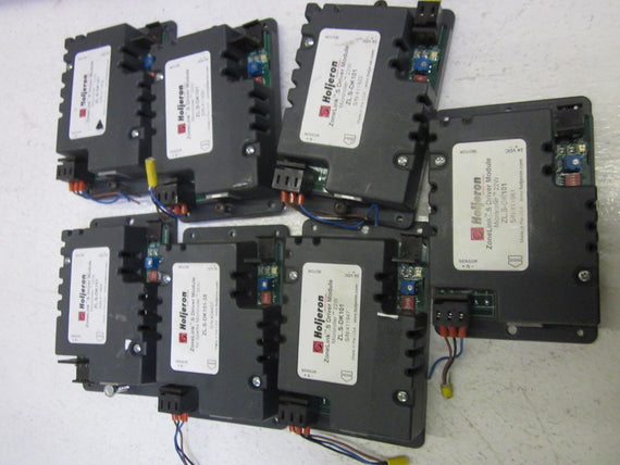 LOT OF 7 HOLJERON ZONELINK ZL.S-DK101 DRIVER MODULE POWERED ROLLER SENSOR *USED*
