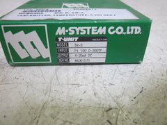 M-SYSTEM CO. LTD. TR-3 TEMPERATURE TRANSMITTER *NEW IN BOX*