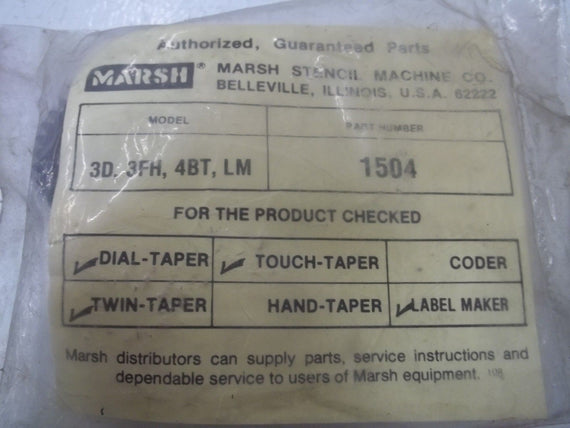 MARSH 1504 *NEW IN A FACTORY BAG*