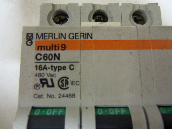 MERLIN GERIN 24468 CIRCUIT BREAKER 16A *USED*