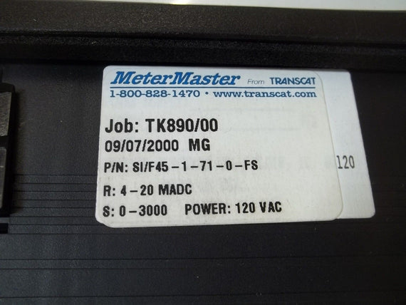 METTER MASTER SI/F45-1-71-0-FS  PANEL METER *NEW IN BOX*