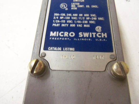 MICROSWITCH 1ML10 *USED*