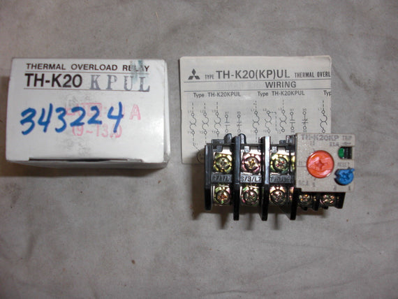 MITSUBISHI TH-K20KPUL THERMAL OVERLOAD RELAY * NEW IN BOX *