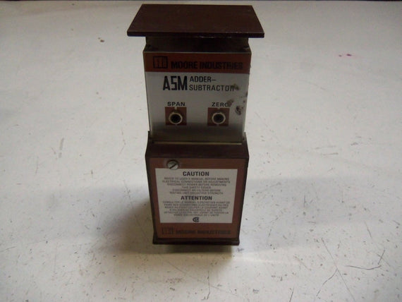 MOORE ASM/4X0-5V/W4-20MA/117AC STD CURRENT TRANSMITTER *USED*