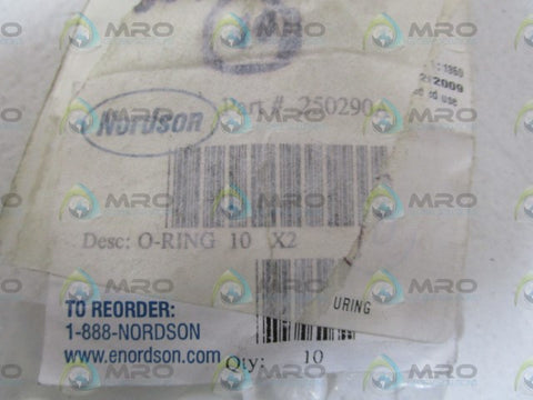 LOT OF 10 NORDSON O-RING 250290A *NEW IN BAG*