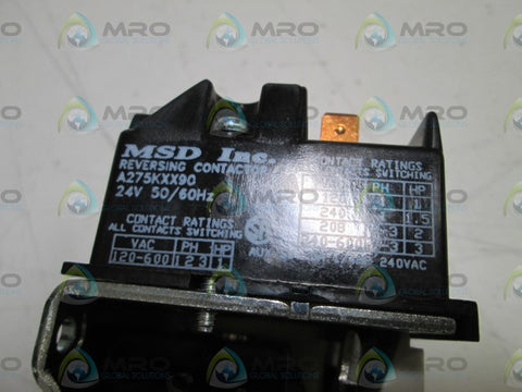 MSD, INC  CONTACTOR 275KXX90 24V *NEW IN BOX* – MRO Global