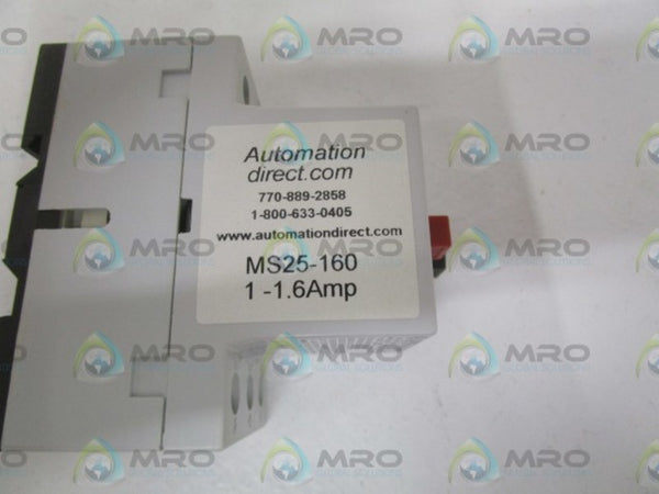 AUTOMATION DIRECT MS25-160 MANUAL STARTER 1-1 6AMP * NEW IN BOX *