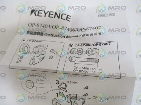 KEYENCE OP-87407 BRACKET ROBUST MOUTING/CMOS CONNECTOR * NEW IN A