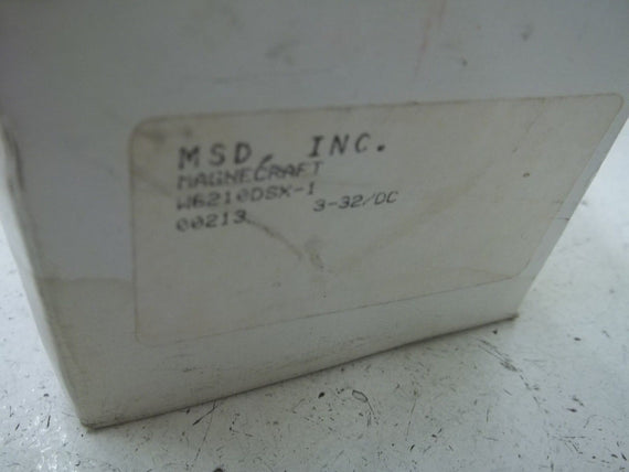MSD, INC. W6210DSX-1 SOLID STATE RELAY *NEW IN BOX*