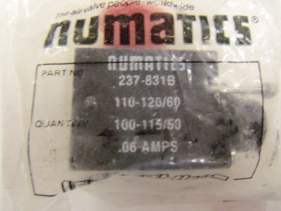 NUMATICS 237-831B *NEW IN FACTORY BAG*