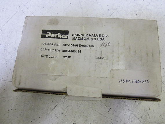 PARKER 337-108-06EA660135 VALVE ELECTRIC UNLOADER *NEW IN BOX*