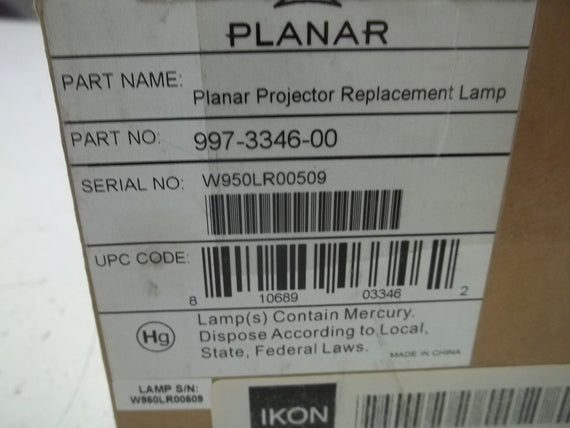 PLANAR 997-3346-00 PROJECTOR REPLACEMENT LAMP *NEW IN BOX*