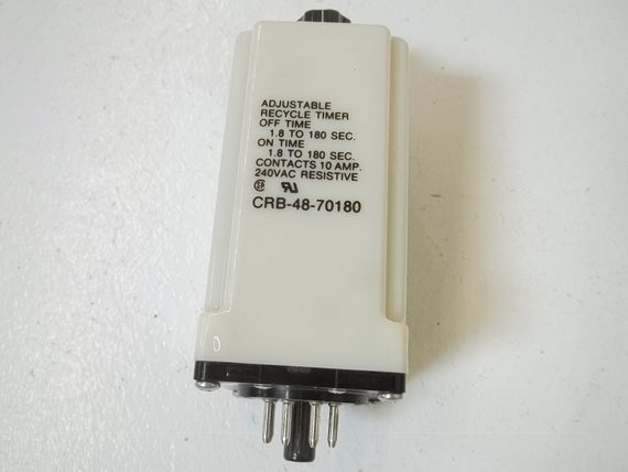 POTTER & BRUMFIELD CRB-48-70180 TIME RELAY 1.8 TO 180 SEC. *USED*