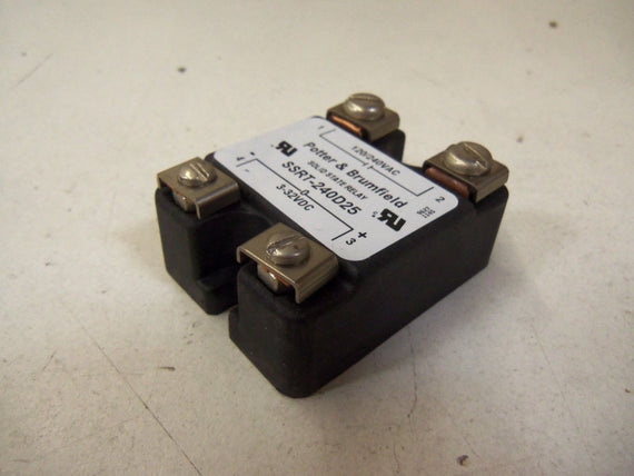 POTTER & BRUMFIELD SSRT-240D25 SOLID STATE RELAY *USED*