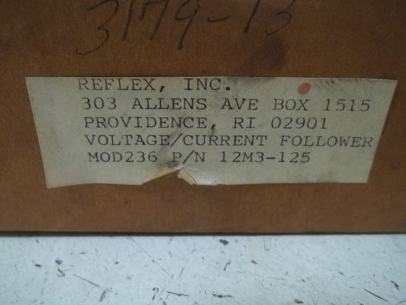 REFLEX, INC. 12M3-125 VOLTAGE/CURRENT FOLLOWER *NEW IN BOX*