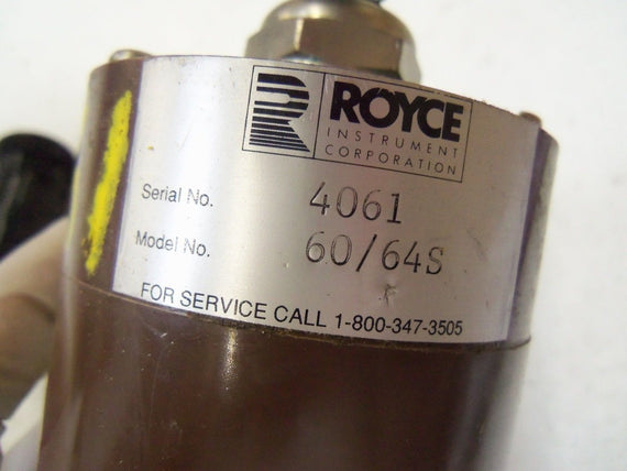ROYCE INSTRUMENT 60/64S TRANSDUCER *USED*