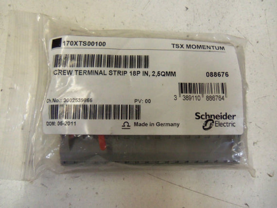 LOT OF 3 SCHNEIDER ELECTRIC MODICON 170 XTS 001 00 SCREW TERMINAL *NEW NO BOX*