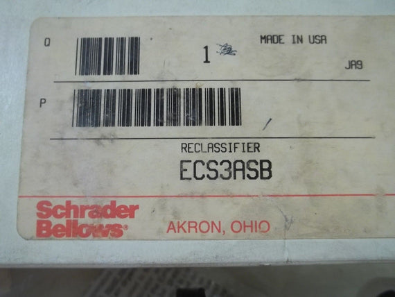 SCHRADER BELLOWS ECS3ASB RECLASSIFIER *NEW IN BOX*