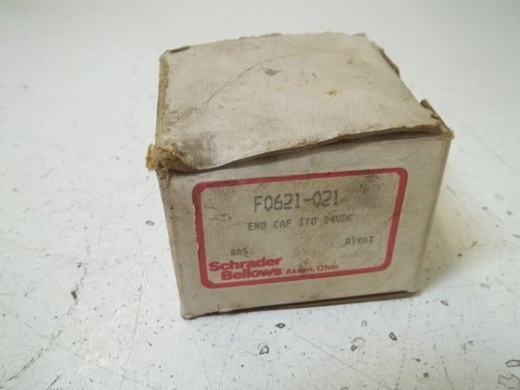 SCHRADER BELLOWS F0621-021 END CAP 24VDC *NEW IN BOX*