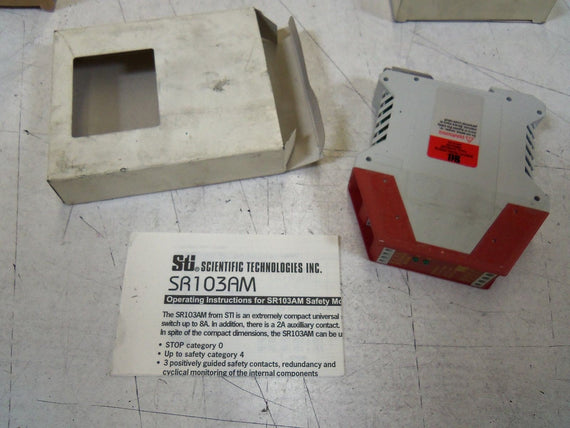 STI SAFTEY RELAY SR103AMO2 *NEW IN BOX*