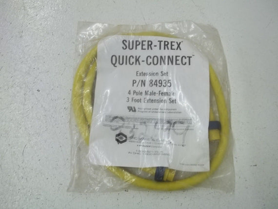 SUPER-TREX 84935 EXTENSION SET 4-POLE MALE-FEMALE *NEW IN A BAG*