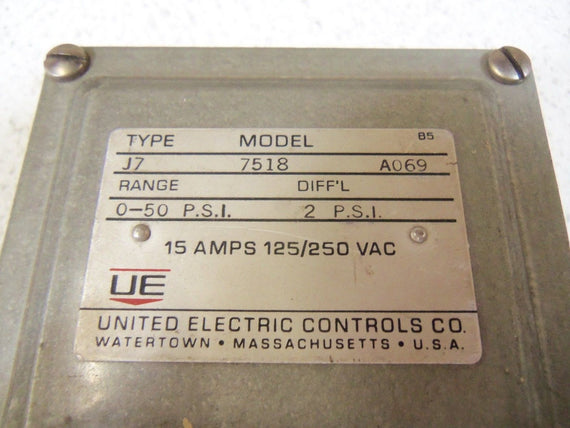 UNITED ELECTRIC J7-7518 *USED*