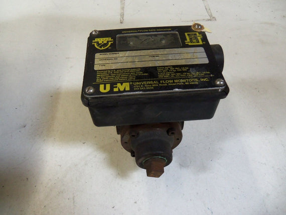 UNIVERSAL FLOW MONITORS, INC. FM-3-AL-LR-3EE-300 SSU-4-V-WP *USED*